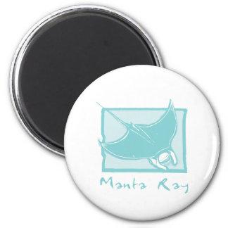 Woodcut Manta Ray Magnet
