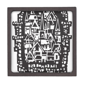 Woodcut Medieval City Gift Box