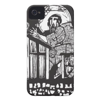 Woodcut Monk in Monastery iPhone 4 Case-Mate Case
