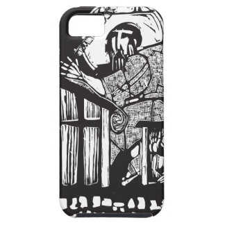 Woodcut Monk in Monastery iPhone SE/5/5s Case