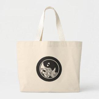 Woodcut Moon Large Tote Bag