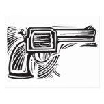 Woodcut Pistol Post Cards