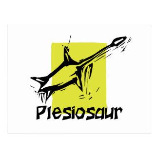 woodcut plesiosaur postcards