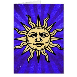 WOODCUT SUN CARD