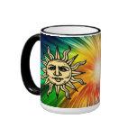 WOODCUT SUN COFFEE MUGS