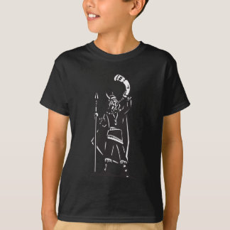 Woodcut Viking with Horn T-Shirt