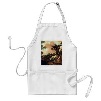 Woodcutter A Milk-Maid Wooing By Gainsborough Thom Adult Apron