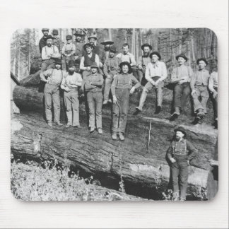 Woodcutters in California, 1891 Mouse Pad