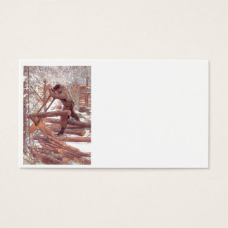 Woodcutters in the Snow Business Card