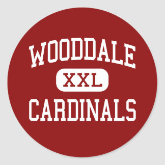 Wooddale - Cardinals - High - Memphis Tennessee Classic Round Sticker