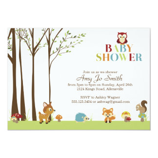 Wooded Baby Shower Invitation