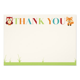 Wooded Baby Shower Thank You Card