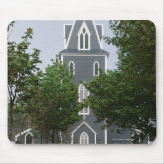 Wooded chapel, Newfoundland, Canada Mouse Pad