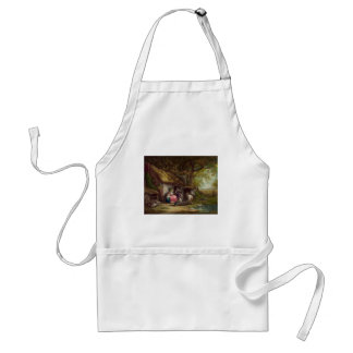 Wooded Cottage Adult Apron