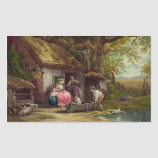 Wooded Cottage Sticker