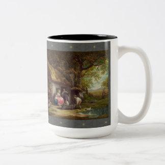 Wooded Cottage Two-Tone Coffee Mug