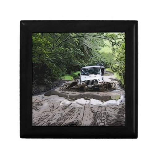 Wooded Jeep Gift Box
