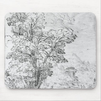 Wooded landscape mouse pad