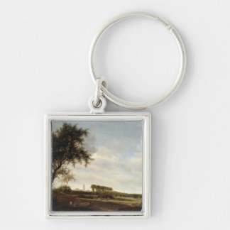 Wooded Landscape (oil on panel) Keychain