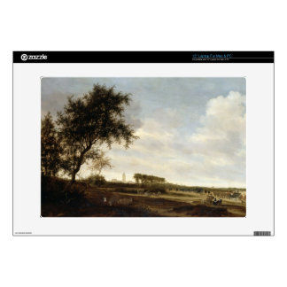 Wooded Landscape (oil on panel) Laptop Decal