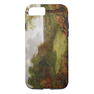 Wooded Landscape with a Cottage, Sheep and a Recli iPhone 7 Case