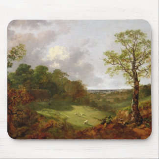 Wooded Landscape with a Cottage, Sheep and a Recli Mouse Pad