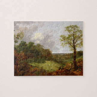 Wooded Landscape with a Cottage Sheep and a Recli Jigsaw Puzzle