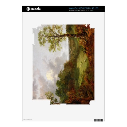 Wooded Landscape with a Cottage, Sheep and a Recli Skins For iPad 3