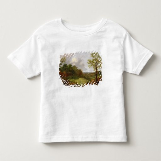 Wooded Landscape with a Cottage, Sheep and a Recli Toddler T-shirt