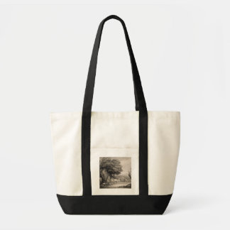 Wooded Landscape with Carts and Figures (etching o Tote Bag