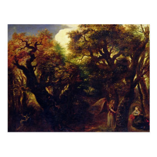 Wooded Landscape with Hagar and the Angel Postcard
