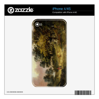 Wooded Landscape with Woman and Child Walking Down Decals For The iPhone 4S
