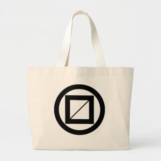 Wooded measure in circle large tote bag