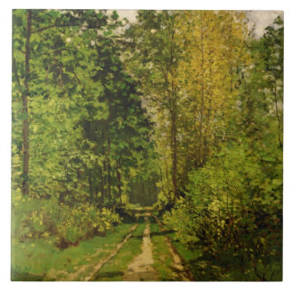 Wooded Path, 1865 (oil on canvas) Ceramic Tile