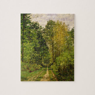 Wooded Path, 1865 (oil on canvas) Jigsaw Puzzle