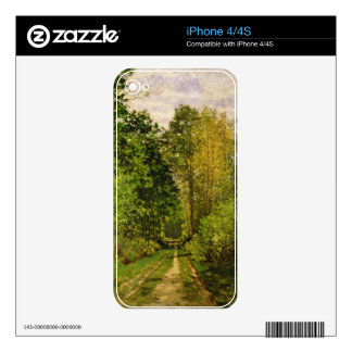 Wooded Path, 1865 (oil on canvas) Skin For The iPhone 4S