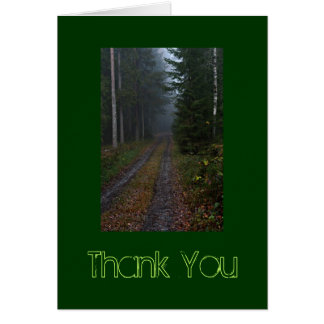 Wooded Path Thank You Card
