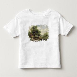 Wooded river landscape toddler t-shirt