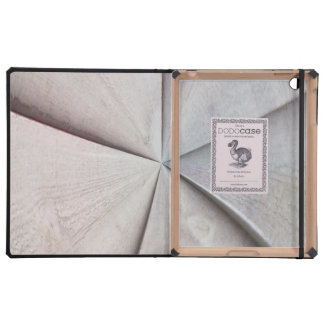 Wooden abstract pattern iPad case