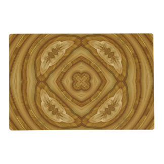Wooden abstract pattern laminated place mat