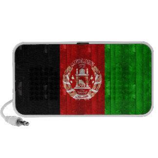 Wooden Afghan Flag Laptop Speakers