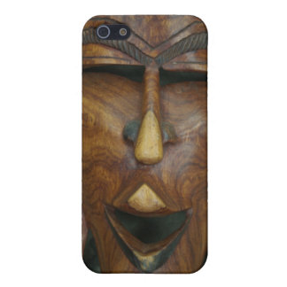 Wooden African mask Case For iPhone SE/5/5s