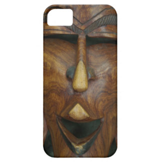 Wooden African mask iPhone SE/5/5s Case