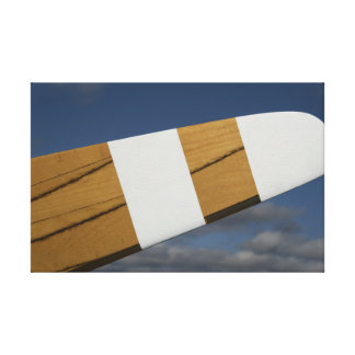 Wooden Airplane Propeller Wrapped Canvas Print