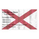 Wooden Alabaman Flag Business Cards