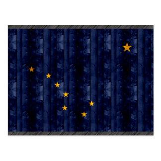 Wooden Alaskan Flag Postcard