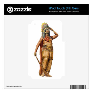 Wooden American Indian Skins For iPod Touch 4G