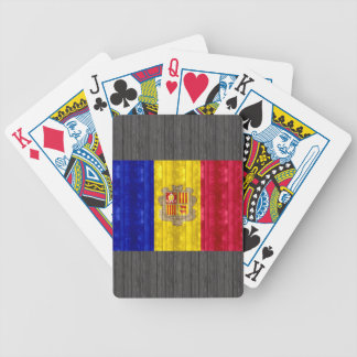 Wooden Andorran Flag Bicycle Playing Cards