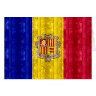 Wooden Andorran Flag Card
