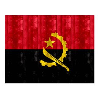 Wooden Angolan Flag Postcard